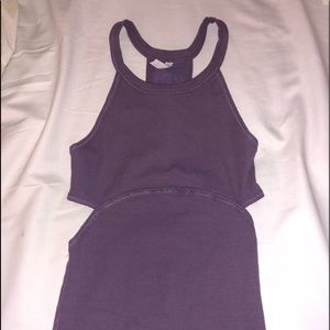 free people purple work out top